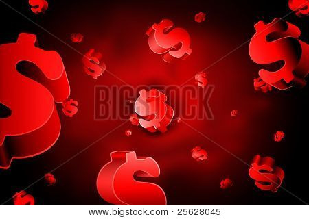 illustration of dollar flowing as red blood cell