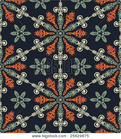 Weihnachten seamless Pattern mit stilisierten Schneeflocken