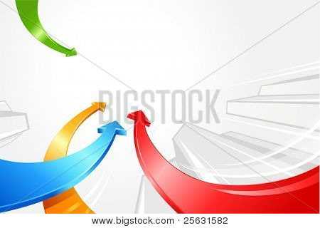 curved colored arrows