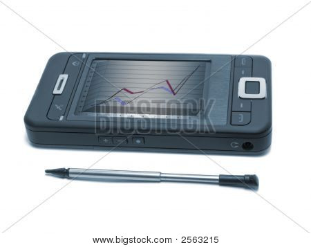 Toned Smartphone With Diagram