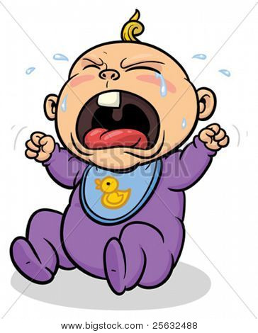 Cartoon baby crying