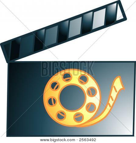 Movie Clacker Icon Or Symbol