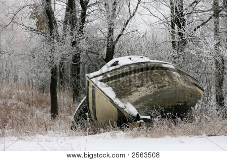 Boat In The Snow