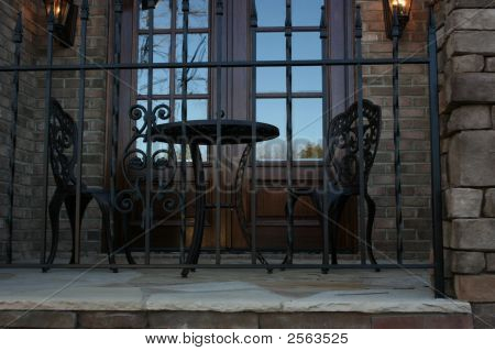 Iron Table And Portico