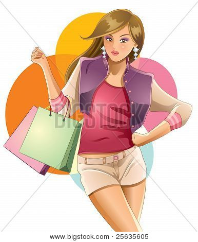 Sexy Girl Shopping