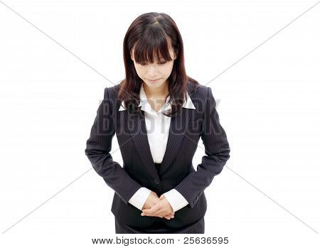 Young japanese business woman