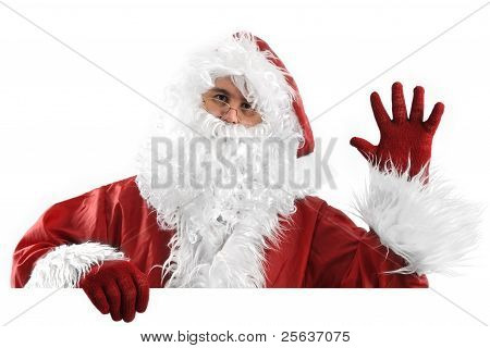 Santa Claus On White Bye