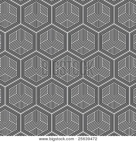 A honey-comb shaped vector pattern