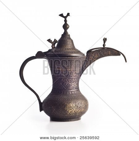 An antique arabic coffee pot