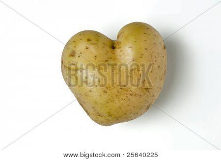 heart-shape, funny potato