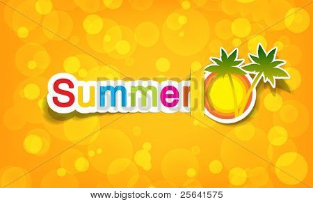 vector summer; realistic cut, takes the background color