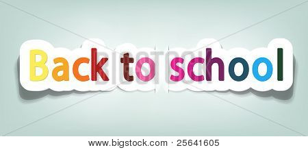 vector back to school; realistic cut, takes the background color