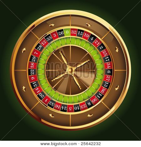 detailed casino roulette wheel