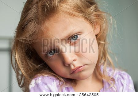 upset child