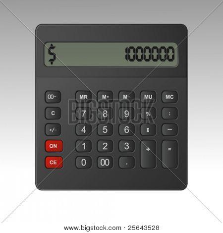 Business calculator. Vector illustration.