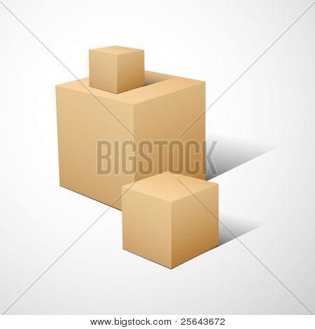 3D cube composition.. Vector illustration.