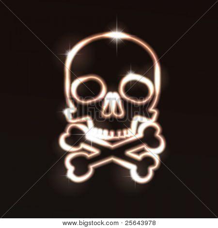 Cráneo. Ilustración del vector. Eps10
