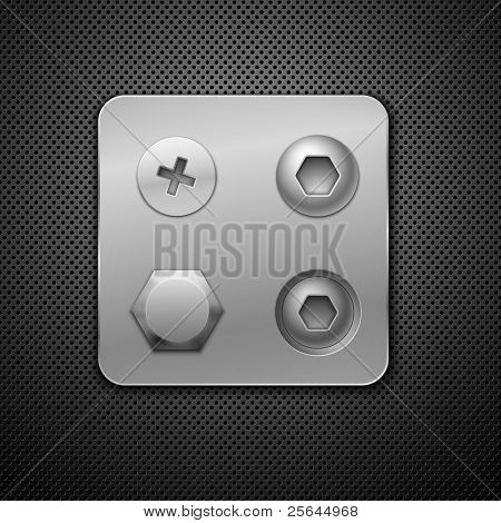 Screws and rivets. Elements for your design.  Realistic vector illustration.