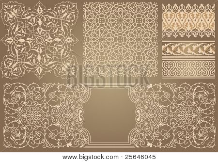 set with pattern in Arabian style