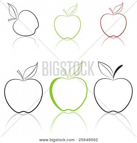 Apfel Satz. Vektor