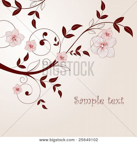 Beautiful vintage background with flowers.