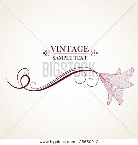 Vintage floral background with flowers lily. Element for design.