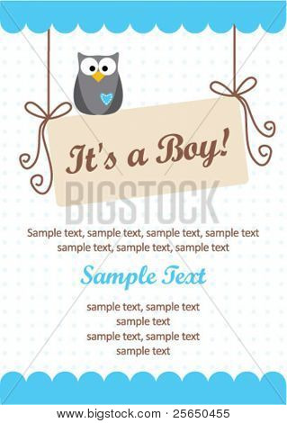 It's a boy invitation card