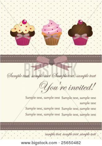 Cupcake Invitation Card