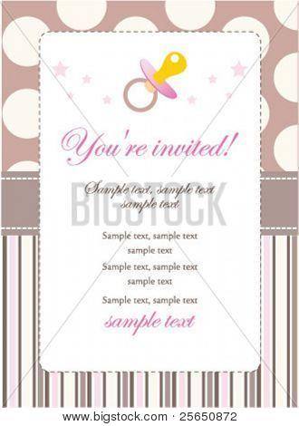 New baby girl invitation