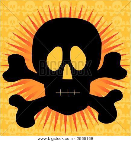 Skull Crossbones Silhouette