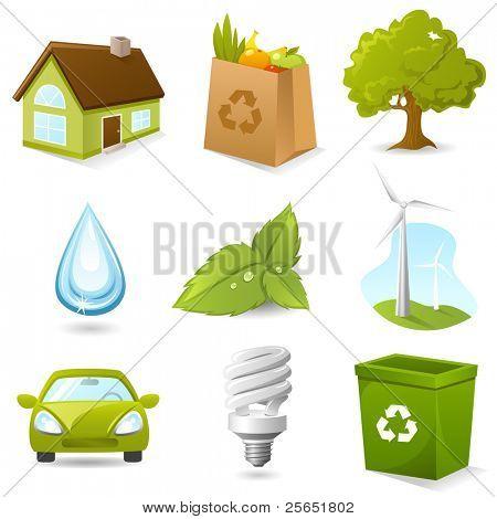 Ökologie Icon-set