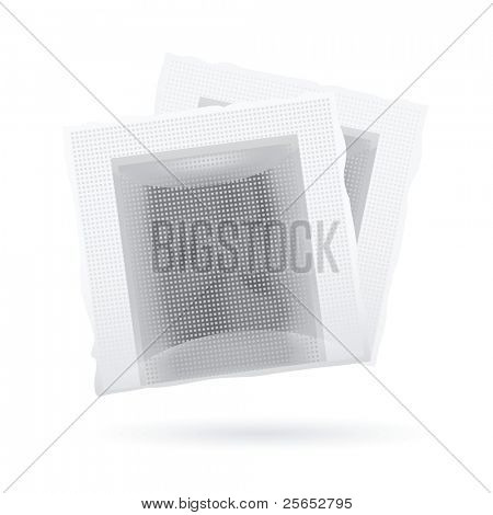 Tea bags isolated on white background