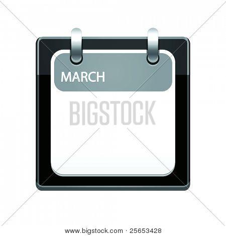 Black Calendar Icon.