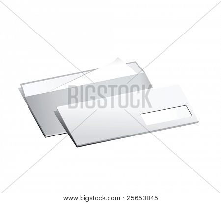 Two raster paper post envelope.