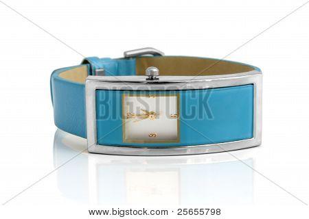 Blue Wristwatch