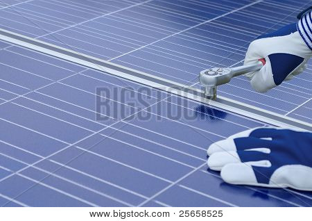 Assembly of solar panels