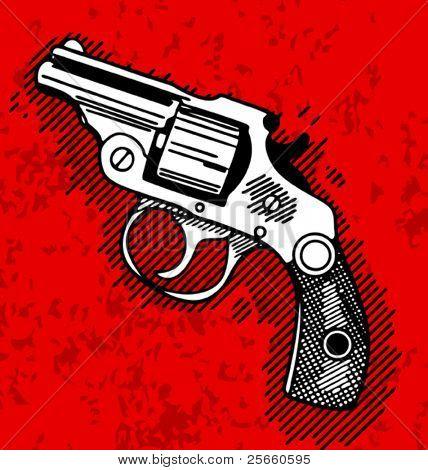 Pop art illustration of a shotgun