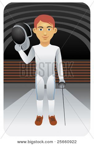 Fencer holding dagger