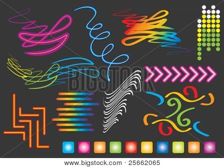 Music set 9 (visit our portfolio for more design elements and music vectors)