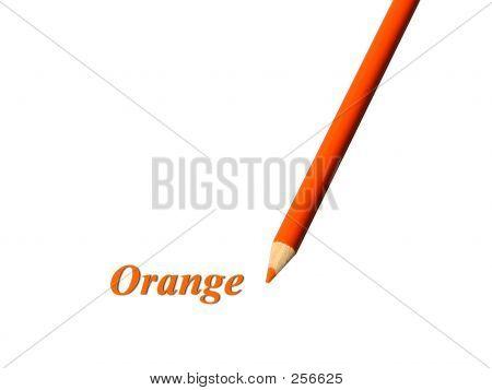 Orange Pencil