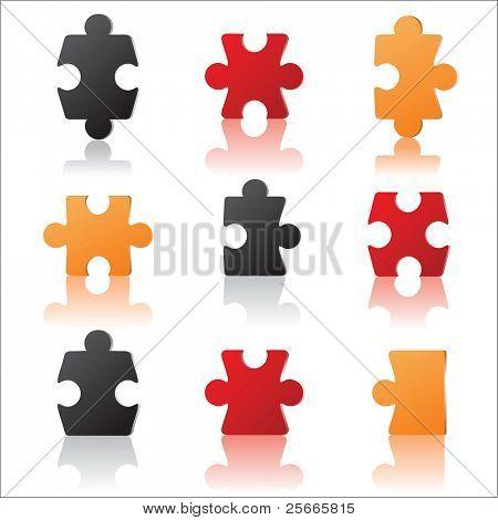 colorful puzzles set