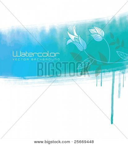watercolor vector background for cover design