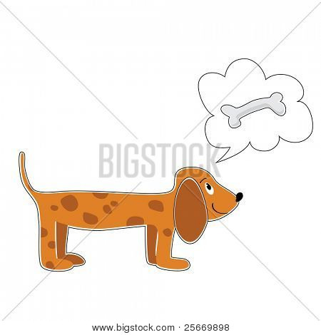 dog dreaming about bones