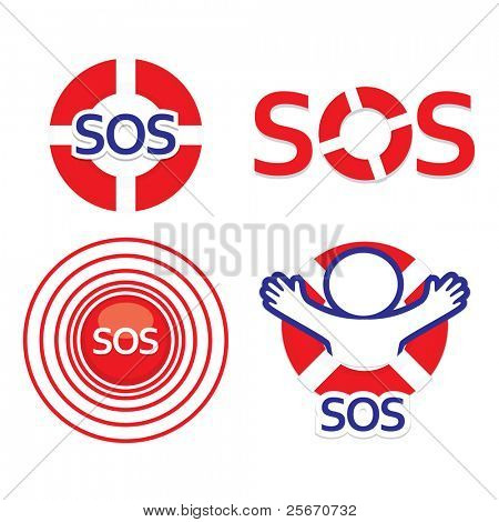 Set sign sos - the international distress signal.