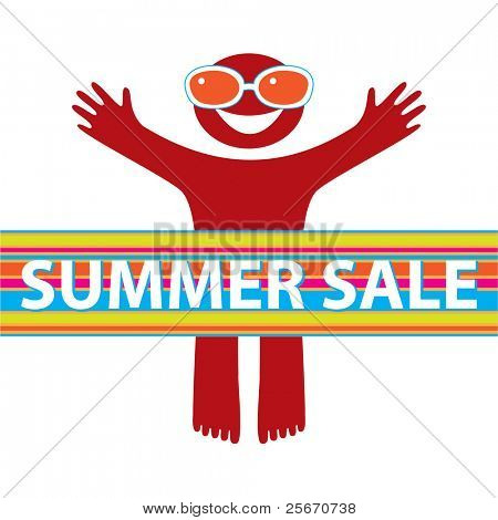 Summer Sale. Vector background. Shopping, stock, discounts.