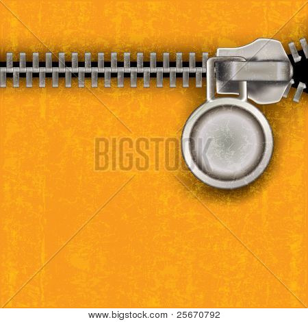 Abstract Background With Close Steel Zipper