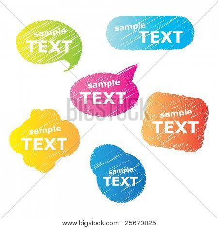 Collection of bubbles for speech. Vector.