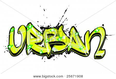 graffiti text urban