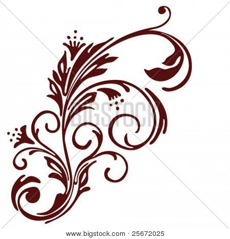 Flower vector vintage. Ornament floral decor.