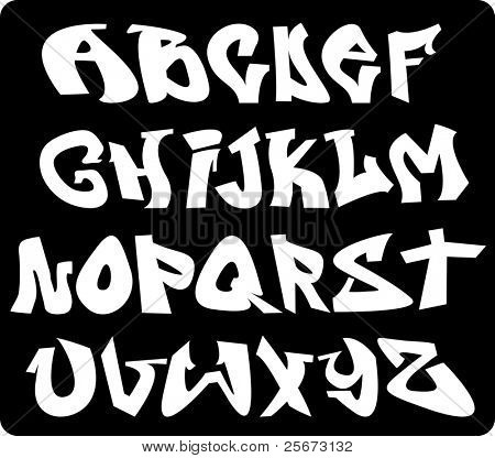 graffiti font alphabet design